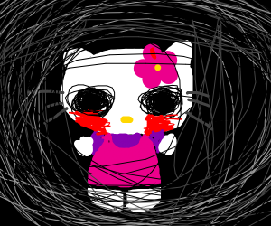 hello kitty, just from an horror movie