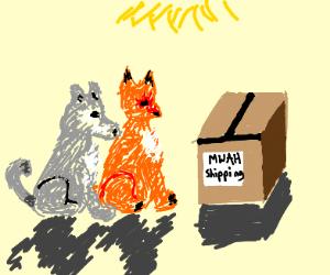 "wolf and fox ""MWAH"" shipping"