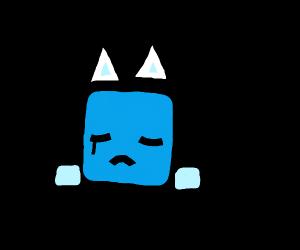 Sad cat-icecube