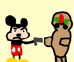 Micky Mouse vs SCP-173
