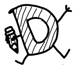 Drawception logo in black and white.