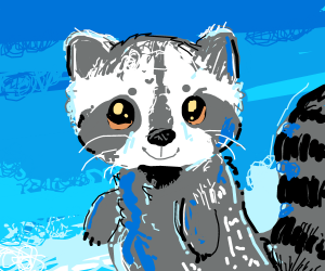 A lil' adorable racoon.