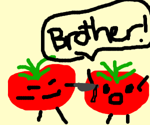 Tomato stabbing brother