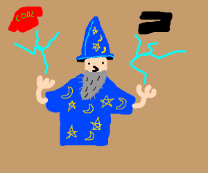 Wizard sells new clothes