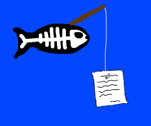 X-ray Fish fishing with a Page