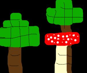 murshoom tree in minecraft forest