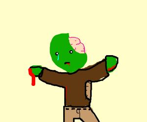 Sad zombie
