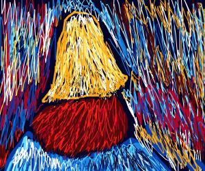 A tricolored haystack
