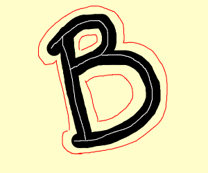 literally just the letter B