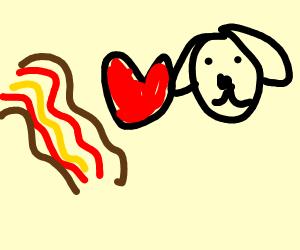 dog <3 bacon