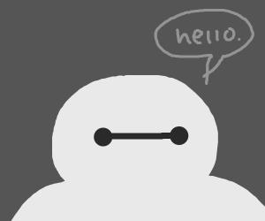 Bay-max saying Hello