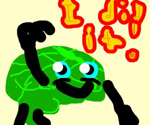 triumphant green brain