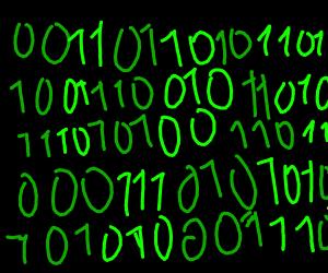 Binary green numbers