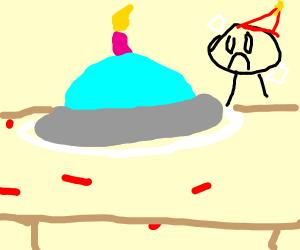 birthday ufo themed cake