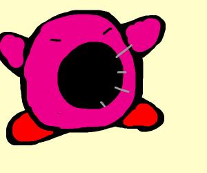Kirby inhales