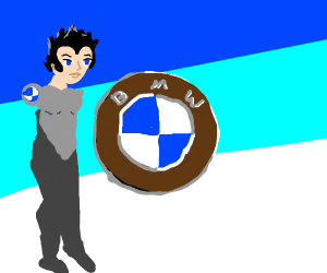 BMW logo personified