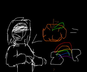 Someone interpreted pumpkin as a rainbow