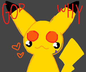 Picachu's eyes swapped places w/ his cheeks