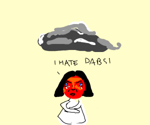 Little girl hates dab