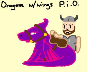 Dragon w/ wings, PIO