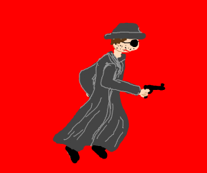 Detective with a gun.