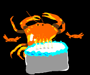 Crab birthday party