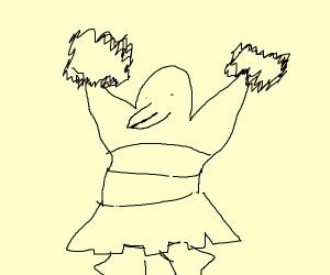 penguin cheerleader