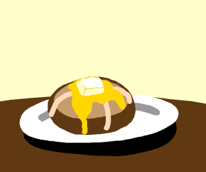 Hot Cross buns with butter melting on top