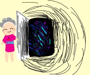 Grandma opens the door to the void