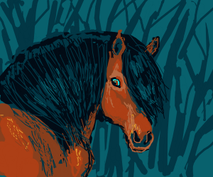 realistic portrait of a horse
