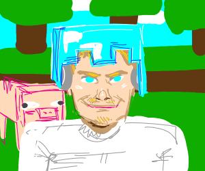 Pewdiepie plays Minecraft