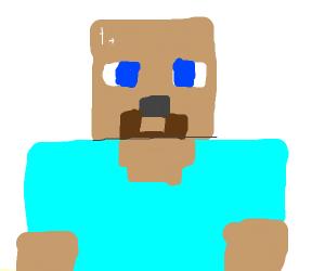 Steve (mincraft) is bald