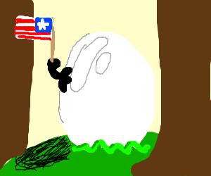 Egg holding flag