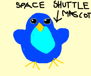 Bluebird is space shuttle mascot