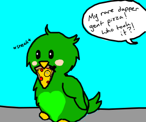 the bird stole the dapper gent pizza