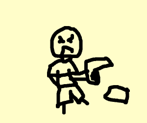 Extremely angry John Wick loads his gun