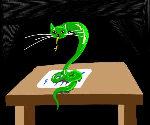 Cat-Snake on a Letter