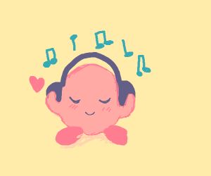 Kirby listens to some sick beats