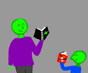 green folks that are into science fiction