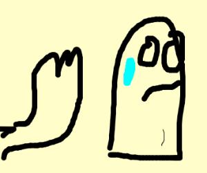 Ghost has foot fetish