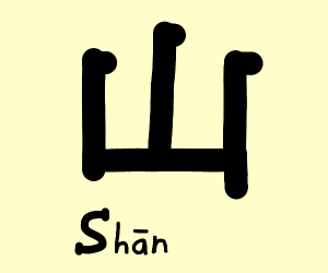 Chinese word for mountain