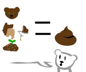Bear thinks just cus it brown dot mene it poo