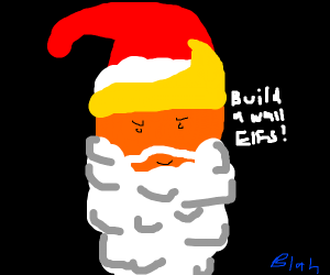 Donald Trump as Santa Claus