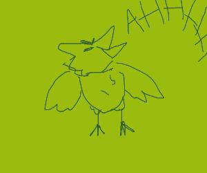 Bird screams into the void