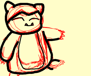 unfinished snorlax
