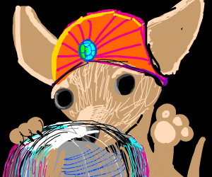 Green chihuahua is a fortune teller
