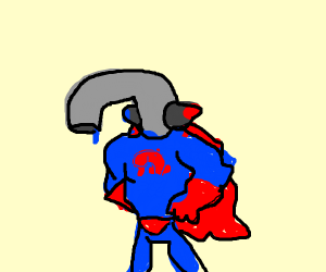 A superhero named Faucet Man