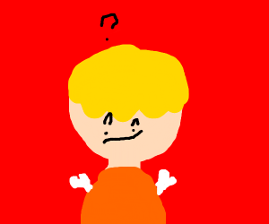 Armless blonde dude is confused