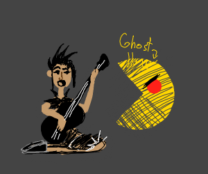 Emo rockstar Pac man ghost angry