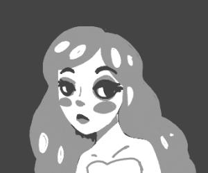 Grayscale woman
